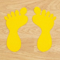 Anti-Slip Foot Symbols - Yellow