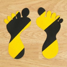 Anti-Slip Foot Symbols – Black & Yellow