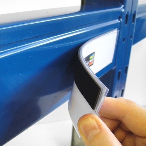 Plastic Magnetic Label Holders 52mm X 200mm Rack Amp Shelf