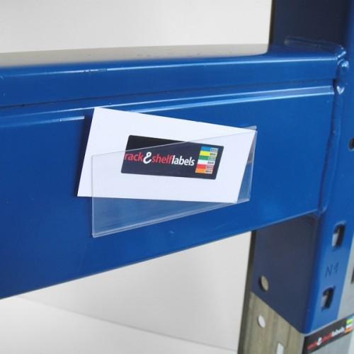 Plastic Magnetic Label Holders 39mm X 100mm Rack Amp Shelf