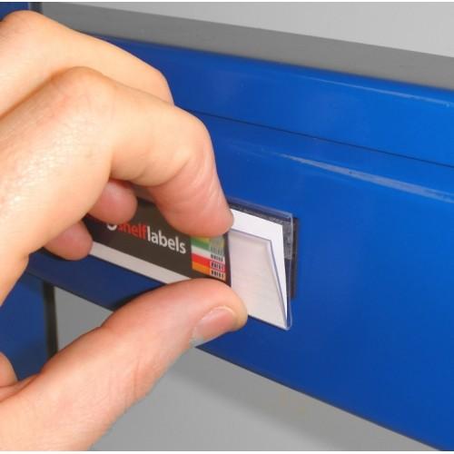 Plastic Magnetic Label Holders 26mm X 100mm Rack Amp Shelf