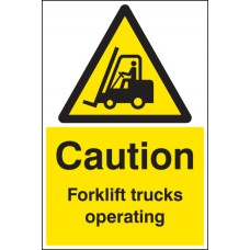 Floor Sign - Caution Forklift trucks operating Rectangle