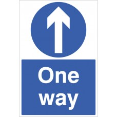 Floor Sign - One Way