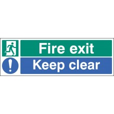 Floor Sign - Fire Exit/Keep Clear