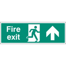 Floor Sign - Fire Exit Up