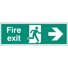 Floor Sign - Fire Exit Right