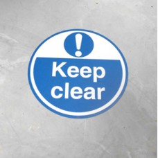 Floor Sign - Keep Clear