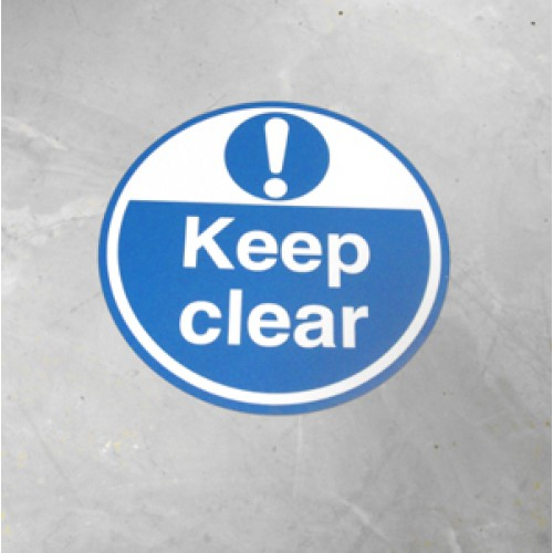 Floor sign keep clear rack shelf labels for Floor labels
