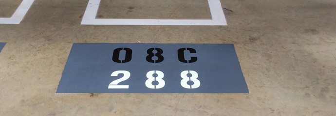 Floor Marking Stencil
