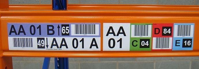 Professional Warehouse Labels Rack amp Shelf