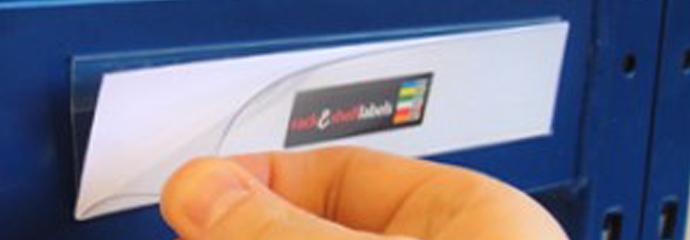 Self Adhesive Plastic Label Holder